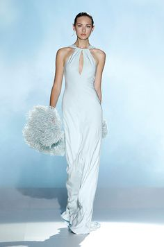 wedding dress by Rosa Clara 2013 bridal gowns Blue Wedding Dresses, Wedding Dress Trends, Blue Dresses, Wedding Gowns, Stunning Dresses, Beautiful Gowns, Elegant Dresses, Beautiful Outfits, White Fashion