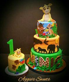 Lion King Birthday Cake and Smash Cake