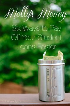 Six Ways to Pay Off Your Student Loans Faster | Molly's Money Debt, Debt Payoff #Debt