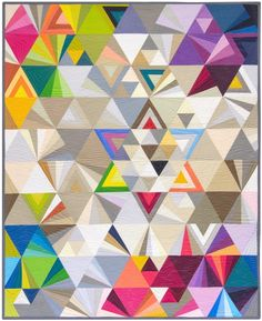 Visually stunning Tesselations quilt by Alison Glass. Pattern available from Robert Kaufman Fabric Company at jump.