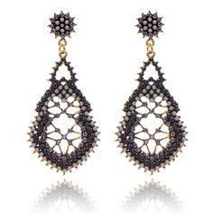 2,89€ - Hollow Geometry Rhinestone Vintage Bohemian ethnic style Colorful big long Fashion Pendant earrings women 2014 M11 - Crystal shop