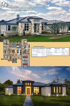 Architectural Designs House Plan #430009LY has a split bed layout with a large study that could be used as a 5th bedroom and gives you over 2,600 square feet of heated living space. Ready when you are. Where do YOU want to build?