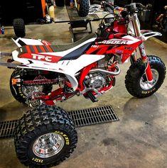 Custom TPC Honda ATC450ER Honda Trike, Trike Motorcycle, Motorcycle Quotes, Triumph Motorcycles, Custom Motorcycles, Bobbers, Atv Motocross, Bike Cart, Ducati