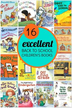 16 books about back to school.