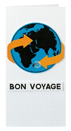 FREE Bon Voyage card printables by Louise Fortune | Papercraft inspirations