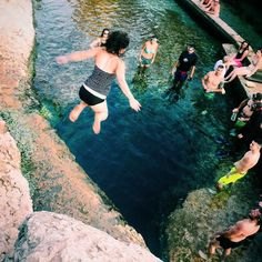 BUCKET LIST ITEM: #JacobsWell  I am so much not scared of jumping off things compared to climbing them! : @peetmarsh