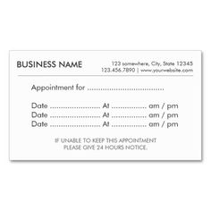 389 best appointment reminder business cards images on pinterest in simple plain appointment reminder business cards business card templates business card design minimalist business flashek Image collections