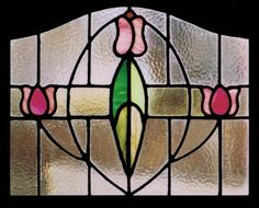 For lovers of vintage art pieces, this antique stained glass tulip would surely brighten up the room and bring a touch of refinement to your home.