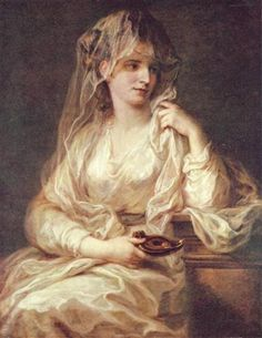 Portrait of a Woman as a Vestal Virgin - Angelica Kauffman