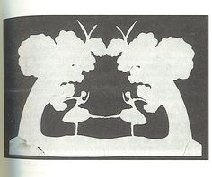 "Paper cutout (made by Andersen himself) accompanying the story ""The Red Shoes"""