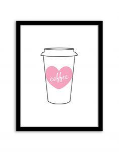 Free Printable Coffee Wall Art from @chicfetti #freeprintable