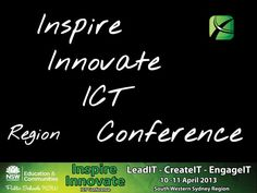 """Inspire Innovate ICT Conference - Opening April 10 2013 by samsonfung. Inspire innovate is pleased to be returning to ANZ Stadium at Sydney Olympic Park, Homebush, Sydney for Inspire Innovate 2013. During this two-day conference, we will embrace the theme of """"LeadIT, CreateIT and EngageIT to deliver an outstanding professional development opportunity for educators, by educators, to provide innovative ideas for digital learning."""