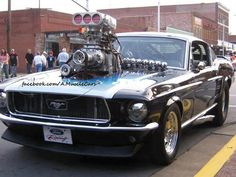 Blown Pro-Street Mustang