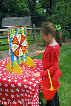 Carnival birthday party game - spin a prize