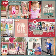 Project Life Layout by Krista using A Happy Family: Lovin' Life by Traci Reed and Shawna Clingerman