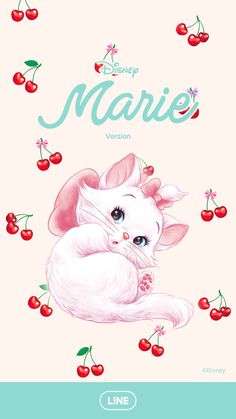 Disney Marie features in a style girly theme! You'll have one of the cutest themes around with its retro pop look and fruit icons! Disney And Dreamworks, Disney Pixar, Walt Disney, Disney Cats, Disney Cartoons, The Aristocats, Disney Lines, Marie Cat, Gata Marie