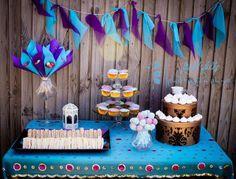 """Photo 3 of 22: Princess Jasmine / Birthday """"Andrea's 5th birhday party """"   Catch My Party Easy bunting idea."""
