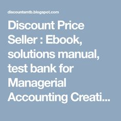 Managerial accounting managers 4th edition noreen test bank test managerial accounting managers 4th edition noreen test bank test bank download pinterest banks fandeluxe Choice Image