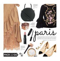 """Pack and Go: Paris Fashion Week"" by federica-m ❤ liked on Polyvore featuring J.Crew, Alberta Ferretti, Chanel, Mansur Gavriel, lilah b., Bobbi Brown Cosmetics, Caffé, parisfashionweek and Packandgo"