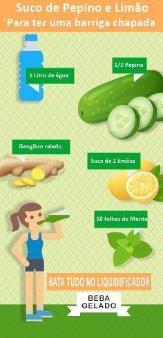 Suco Detox Para Chapar a Barriga em 15 Dias #emagrecer #adelgazar #saude #health #suco #juice #receita
