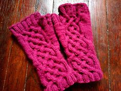 They Are All of Me: Celtic Cable Fingerless Gloves