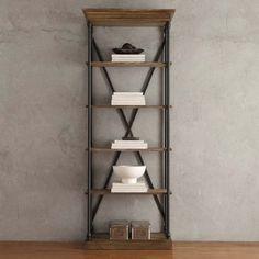 **$400.00/ 84 x 33 x 15 INSPIRE Q Barnstone Cornice Brown Oak Driftwood Single Shelving Bookcase - Overstock™ Shopping - Great Deals on INSPIRE Q Media/Bookshelves