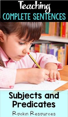 Teach students how to write complete sentences. Tips to identify subjects and p… Teach the students how to write complete sentences. Tips for identifying subjects and predicates. Writing Complete Sentences, Writing Mini Lessons, Paragraph Writing, Narrative Writing, Informational Writing, Persuasive Writing, Writing Workshop, Writing Skills, Informative Writing