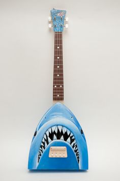 "Jaws ukulele   ""get out of the water-lele"". $700.00, via Etsy."