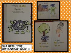 Spider Fun and Freebies! Click here for the free book.