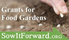 KGI's Sow It Forward Food Garden Grants Program is now accepting applications - Deadline: 11 January 2013  From MOTHER EARTH NEWS magazine.