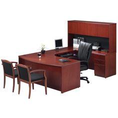 Pv U Unit Cherry Credenzaoffice Furnituremanhattanofficesdeskscherryhon