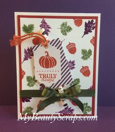 BeautyScraps: September 2015 Stampin' Up! My Paper Pumpkin Wickedly Sweet Treat Kit Reveal and Alternate Card Idea
