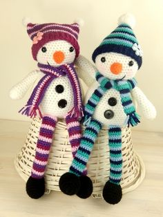 Mr An Mrs Snow Amigurumi Pattern