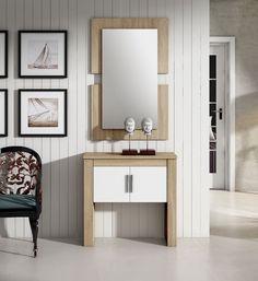 Mueble zapatero serigrafiado madera vintage tonos pastel - Muebles vintage malaga ...