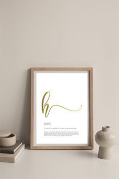Shop this customisable name definition print with real gold foil on Etsy (Prints of Cotton) Gold Foil Print, Place Card Holders, Unique Jewelry, Handmade Gifts, Frame, Shop, Prints, Cotton, Etsy