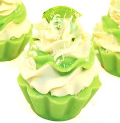 Coconut Lime Handmade Artisan Soap Cupcake by svsoaps on Etsy, $7.50