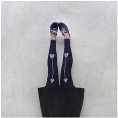 Artemis Leggings - chevron arrow print on high waisted jersey spandex - womens #leggings $34 Blackbird Tees #etsy