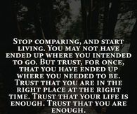 Stop Comparing And Start Living