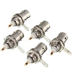 NEW 5Pcs/lot BNC Female Socket Solder Connector Chassis Panel Mount Coaxial Cable For Welding Machine Parts