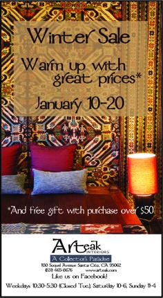 Winter Sale at Arteak through January 20