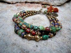 Bohemian Bracelet / Gypsy Bracelet / Boho / Multi by Syrena56, $49.00
