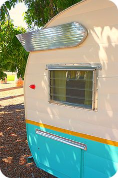 Vintage Trailer vintage trailers, camper trailers, vintag trailersglamp, campers, camping, colors, cottages, cream, vintag camper