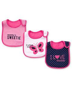 Carter's Baby Girls' Printed 3-Pack Bibs