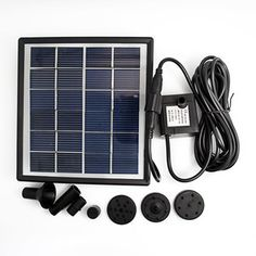 Solar Panel Power Submersible Fountain Pond Water Pump Delicate for Garden Pond