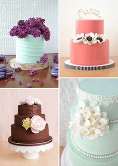 Deliciously amazing cakes by Cassidy Budge | www.onefabday.com|via www.laceandgraceevents.com