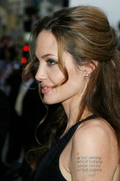10 Hot Angelina Jolie Tattoos Images