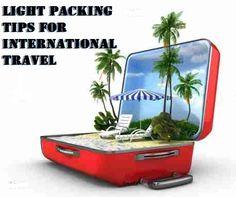 Light packing tips for international travel www.patespad.com