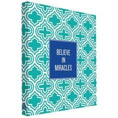 I pinned this Believe in Miracles Canvas Art from the Writing on the Wall event at Joss and Main!