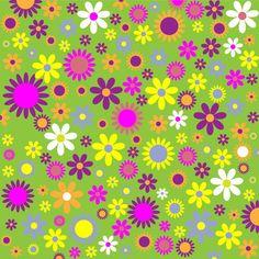 Floral Flowers Pattern Colorful,  public domain