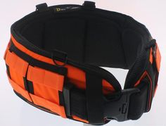 """Padded belt offers great lumbar support MOLLE webbing to secure MOLLE compatible pouches 4 D-Rings Very comfortable to wear L - 36"""" in length and 7"""" in lumbar area XL - 40"""" in length ad 7"""" in lumbar area (Inner Belt Not Included)"""